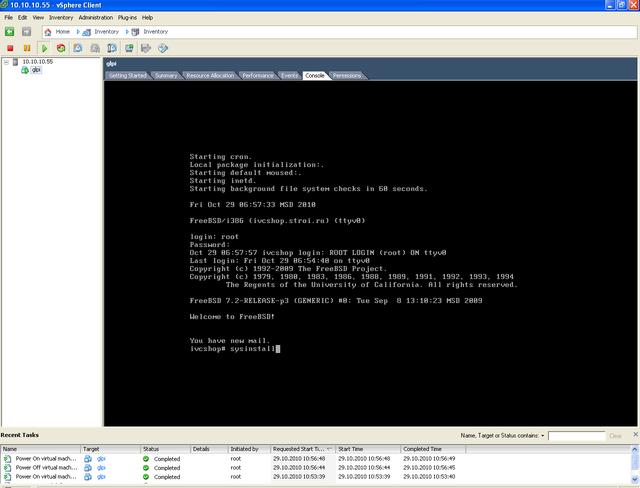 Запуск FreeBSD на Vmware vSphere ESXi